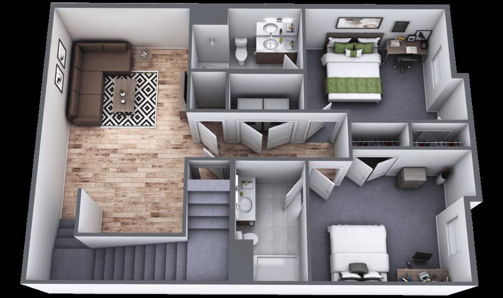 Lakeside Commons Oswego Maple Basement Floor Layout
