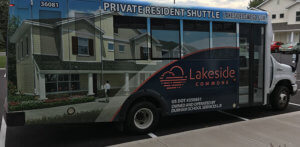 The Private shuttle to take you to SUNY Oswego Campus from Lakeside Commons